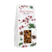 Bakalie w świątecznym opakowaniu z logo firmy - CHRUP-0352-1 - Agencja Point
