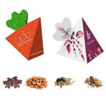 Bakalie, ziarna w reklamowej piramidce z logo - CHRUP32 - Agencja Point