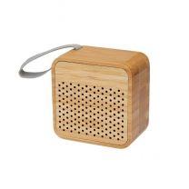 Bambusowy, podświetlany głośnik Bluetoth z nadrukiem logo - 12415171 - Agencja Point
