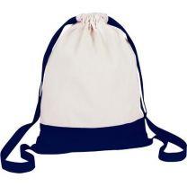 Bawełniany worek z szerokimi paskami, z nadrukiem logo - V7325-04 - Agencja Point