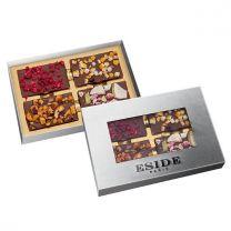 Belgijskie czekoladki z naturalną posypką w pudełku z nadrukiem logo - CZEK13 - Agencja Point