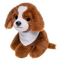 Aksel, pluszowy pies mops 14 cm, maskotka reklamowa z logo - HE745-18 - Agencja Point