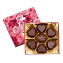 Bombonierka z nadrukiem logo - czekoladki w kształcie serca - BOM28 - Agencja Point
