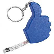 """Brelok """"kciuk"""" - taśma miernicza z nadrukiem logo - 804230 - Agencja Point"""