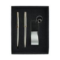 Brelok, pióro i długopis - zestaw z nadrukiem logo - 594119 - Agencja Point