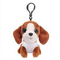 Brelok - pluszowy pies Polly 10 cm, zawieszka reklamowa z logo - HE777-16 - Agencja Point