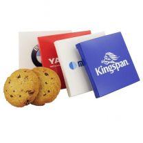 Ciastka z kawałkami czekolady w kartoniku z nadrukiem logo - CIAS32 - Agencja Point