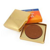 Czekoladowy medal reklamowy 66-120 mm w pudełeczku z logo - CZEK21 - Agencja Point
