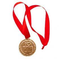 Czekoladowy medal reklamowy 66 mm ze wstążką - CZEK19 - Agencja Point