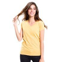 "Damski T-shirt, dekolt ""V"" 145 g z nadrukiem reklamowym - KOSZ-J22 - Agencja Point"