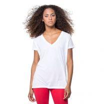 "Damski T-shirt, dekolt ""V"" 145 g z nadrukiem reklamowym - KOSZ-J22-11 - Agencja Point"