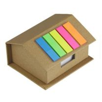 Domek - zestaw reklamowy: karteczki samoprzylepne, notatnik - V2776-00 - Agencja Point