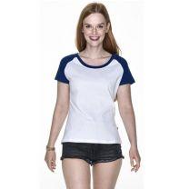 Dwukolorowy T-shirt damski 175 g z nadrukiem logo - KOSZ-P7 - Agencja Point