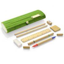Ekologiczny, bambusowy piórnik reklamowy TITA, przybory szkolne, biurowe z logo- 17620-13 - Agencja Point