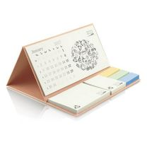Ekologiczny kalendarz biurkowy, karteczki samoprzylepne z nadrukiem logo - PM201-ECO - Agencja Point