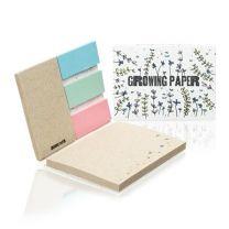 Ekologiczny, reklamowy notes samoprzylepny z papieru z nasionami z logo - MO6235-06 - Agencja Point