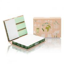 Ekologiczny, reklamowy zestaw notesów samoprzylepnych z logo - PM100-ECO - Agencja Point