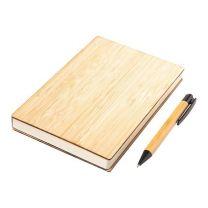 Zestaw korkowy - notes, długopis z nadrukiem logo - R64250.13 - Agencja Point