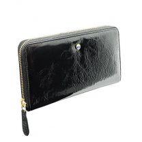 Elegancki skórzany portfel damski z nadrukiem logo, Swarovski Elements - 360082 - Agencja Point
