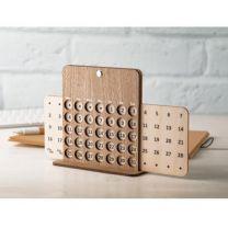 Forever - drewniany kalendarz wieczny, biurkowy, z nadrukiem logo - AP718644 - Agencja Point