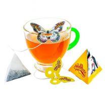 Herbata z zawieszką w kształcie motyla z nadrukiem logo - HER13 - Agencja Point