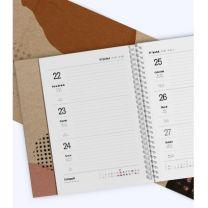 Kalendarz książkowy spiralowany B5 z nadrukiem logo - KAL-DRUK-08 - Agencja Point