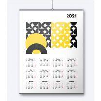 Kalendarz ścienny listwowany, plakatowy, z nadrukiem reklamowym - KAL-DRUK-07 - Agencja Point