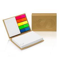 Karteczki samoprzylepne w eleganckiej, twardej okładce z nadrukiem reklamowym - PM100M - Agencja Point
