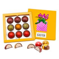 Kolorowe czekoladki reklamowe z logo firmy - BOM39 - Agencja Point