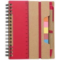 Notatnik, linijka, długopis, karteczki samoprzylepne, zestaw z nadrukiem logo - V2991 - Agencja Point