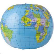 Piłka plażowa z mapą świata - V7817-99 - Agencja Point