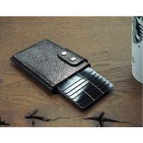 Portfel skórzany z ochroną RFID, z nadrukiem logo - 545144 - Agencja Point