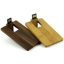 Drewniana pamięć USB karta - V0334 - Agencja Point