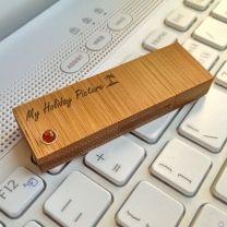 Bambusowa pamięć USB z bursztynem - AMBER4 - Agencja Point
