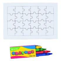 Drewniane puzzle 14,5 x 14,5 cm z nadrukiem reklamowym - V7879-17 - Agencja Point
