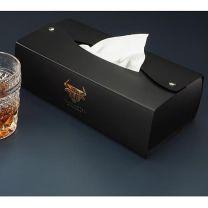 Reklamowe, skórzane pudełko na chusteczki z logo - 1156094 - Agencja Point