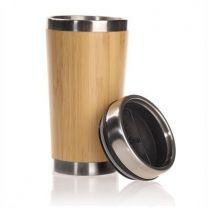 Reklamowy, bambusowy kubek podróżny 400 ml z logo - V0845-17 - Agencja Point