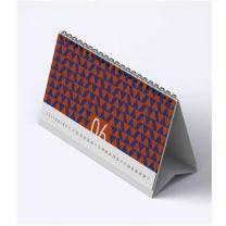 Reklamowy kalendarz biurkowy piramidka 2021, spiralowany, miesięczny - KAL-PIR-01 - Agencja Point