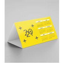 Reklamowy kalendarz biurkowy piramidka 2021 z nadrukiem - KAL-PIR-04 - Agencja Point