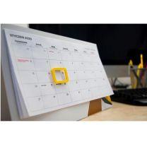 Reklamowy kalendarz biurkowy z wklejanym kalendarium i magnetycznym okienkiem - KAL-UL-04 - Agencja Point