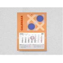 Reklamowy kalendarz ścienny jednodzielny z kaszerowaną główką - KAL-DRUK-01 - Agencja Point