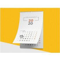 Reklamowy kalendarz ścienny, spiralowany z magnetycznym okienkiem - KAL-UL-01 - Agencja Point