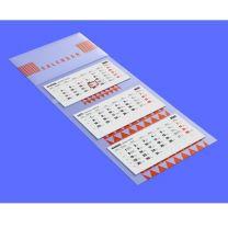 Reklamowy kalendarz ścienny trójdzielny z płaską główką - KAL-DRUK-03 - Agencja Point