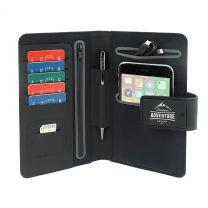 Reklamowy portfel podróżny z power bankiem, podświetlane logo - 595130 - Agencja Point