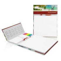 Reklamowy zestaw konferencyjny z długopisem w twardej oprawie full color - PM124 - Agencja Point