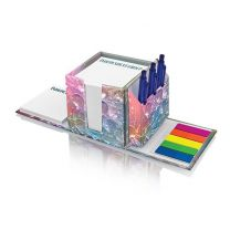 Reklamowy organizer full color na biurko z karteczkami z nadrukiem logo - PM151 - Agencja Point