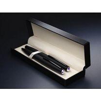 Reklamowy zestaw: pióro i długopis z kryształem Swarovski z logo - 1236036 - Agencja Point