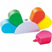 Zakreślacze reklamowe, zestaw 5 kolorów z logo - 2348606 - Agencja Point
