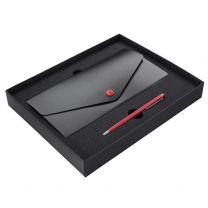 Zestaw - etui na dokumenty, długopis - z nadrukiem logo - 1340040 - Agencja Point