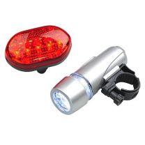 Zestaw lampek rowerowych Biker Light z nadrukiem logo - R17840 - Agencja Point